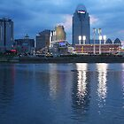 Night Game - Cincinnati Great American Ballpark by Tony Wilder