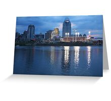 Night Game - Cincinnati Great American Ballpark Greeting Card