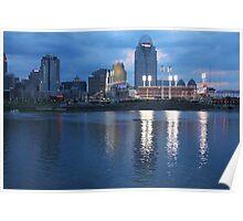 Night Game - Cincinnati Great American Ballpark Poster