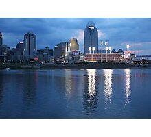 Night Game - Cincinnati Great American Ballpark Photographic Print