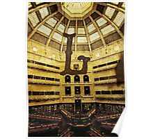 Grungy Melbourne Australia Alphabet Letter L State Library of Victoria Poster