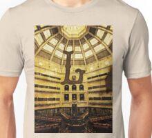 Grungy Melbourne Australia Alphabet Letter L State Library of Victoria Unisex T-Shirt