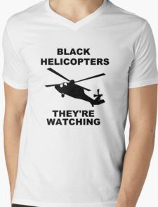 They're Watching Mens V-Neck T-Shirt