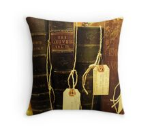 For the Love of Reading Throw Pillow