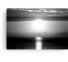 Blazing Sunrise... Canvas Print