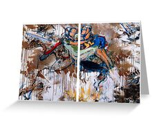 Action Abstraction No. 15 Greeting Card
