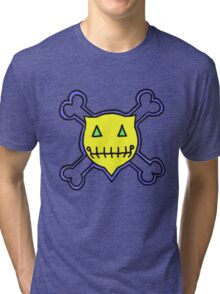 Percentum Skull & Xbones1 Tri-blend T-Shirt