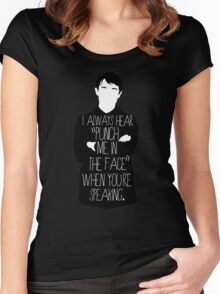 Usually it's subtext.  Women's Fitted Scoop T-Shirt