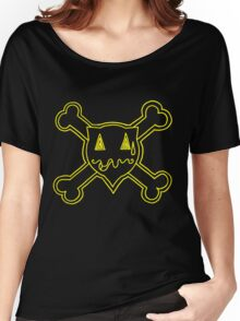 Percentum Skull & Xbones (yellow) Women's Relaxed Fit T-Shirt