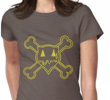 Percentum Skull & Xbones (yellow) Womens Fitted T-Shirt