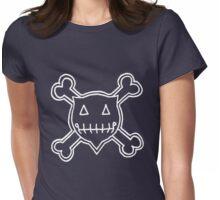 Percentum Skull & Xbones4 (white) Womens Fitted T-Shirt