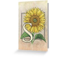 S is for Sunflower card Greeting Card