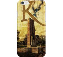 Grungy Melbourne Australia Alphabet Letter K Kings Domain iPhone Case/Skin