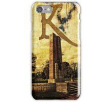 Grungy Melbourne Australia Alphabet Letter K Kings Domain iPhone Case/Skin
