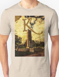 Grungy Melbourne Australia Alphabet Letter K Kings Domain T-Shirt