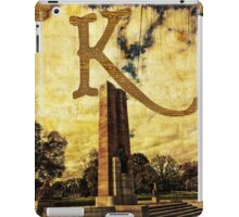 Grungy Melbourne Australia Alphabet Letter K Kings Domain iPad Case/Skin