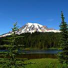 Mount Rainier and Reflection Lake by Lynn Bawden