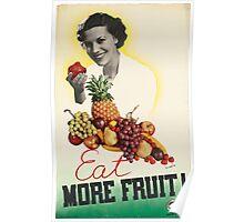 Vintage poster - Eat more fruit Poster