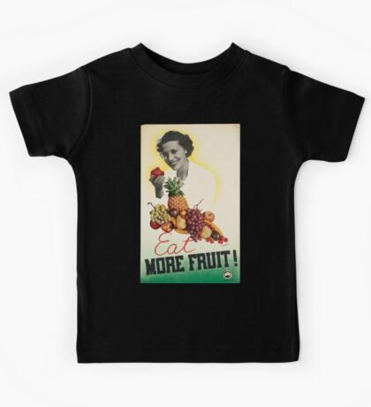 Vintage poster - Eat more fruit Kids Tee