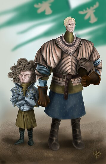 Brienne and Loras by JenSnow