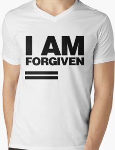 I AM FORGIVEN (BLACK) Mens V-Neck T-Shirt