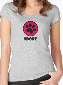 Adopt! Women's Fitted Scoop T-Shirt