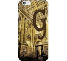 Grungy Melbourne Australia Alphabet Letter G Government Parliament Building iPhone Case/Skin