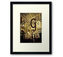 Grungy Melbourne Australia Alphabet Letter G Government Parliament Building Framed Print