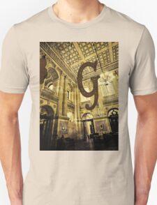Grungy Melbourne Australia Alphabet Letter G Government Parliament Building T-Shirt
