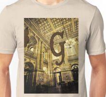 Grungy Melbourne Australia Alphabet Letter G Government Parliament Building Unisex T-Shirt