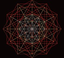 """""""Meta-Flower of Life³"""" by Dylan Bloomfield"""
