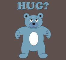 Sad Blue Bear - Hug? Kids Clothes