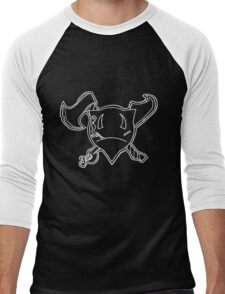 Percentum Pirate (white) Men's Baseball ¾ T-Shirt