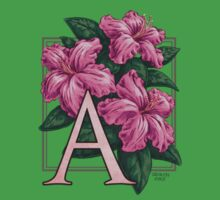 A is for Azalea - patch Baby Tee