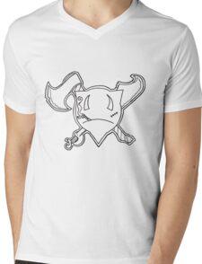 Percentum Pirate Mens V-Neck T-Shirt