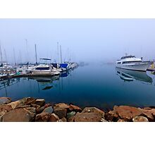 Foggy Harbor Photographic Print
