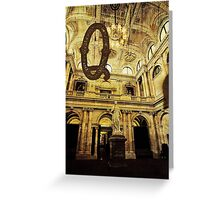 Grungy Melbourne Australia Alphabet Letter Q Queen Victoria Greeting Card