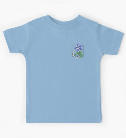 C is for Columbine - patch Kids Tee