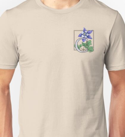 C is for Columbine - patch Unisex T-Shirt