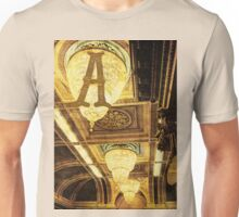 Grungy Melbourne Australia Alphabet Letter A Assembly Chamber Parliament Building Unisex T-Shirt