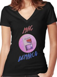 MAC-DEMARCO' - T#2 Women's Fitted V-Neck T-Shirt