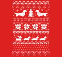 Dachshunds Christmas Sweater Pattern Kids Clothes