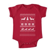 Dachshunds Christmas Sweater Pattern One Piece - Short Sleeve
