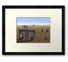Chicago suburb in 2087  Framed Print