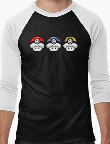 Pokéshrooms Men's Baseball ¾ T-Shirt