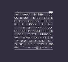 Letraset - White Unisex T-Shirt