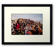 Photographing the Sunset Framed Print