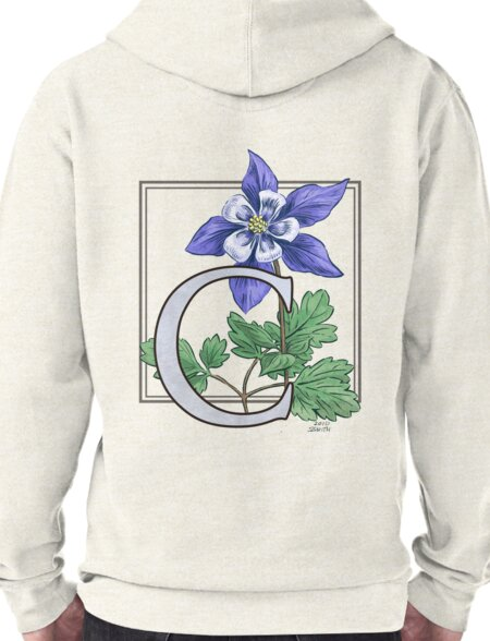 C is for Columbine Pullover Hoodie