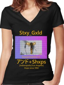 Shxps X Stay Gold Women's Fitted V-Neck T-Shirt