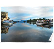 Cool Blue Dawn - Windermere,Lake District, UK Poster